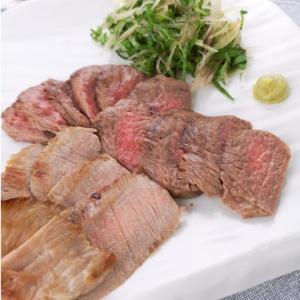 お肉の味がしっかり♪牛すじ肉のステーキ