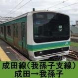 『成田線(我孫子支線) 車窓[下り]成田→我孫子』の画像