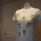 『ANVALIDES パイナップル刺繍Tシャツ』の画像