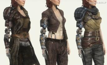義手付きの女性キャラクター用衣装