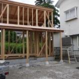 『狭小住宅依頼物件 1F6坪 ロフト3坪 その6 ポーチ仕立て完了』の画像