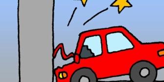 信号待ちしてたら車が電柱に衝突。→車内に煙が。→事故の衝撃で曲がったのかドアが開かない。→運転手「助けてくれー!!」→結果…