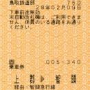 社線内完結の車内補充券