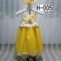 イエローベビードレス帽子付き1500円 H-005