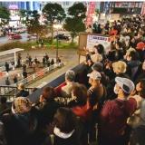 大激戦 比例11ブロック全てで議席獲得・増を  宮城・福島・千葉 志位委員長が訴え
