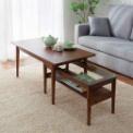 天然木の風合いが楽しめる!モダンなネストテーブル。