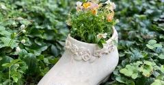 *可愛いの可愛くないの…ブーツの鉢