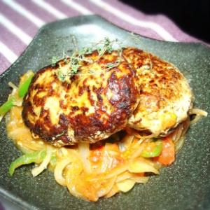 トマトソース ハンバーグ