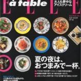 『雑誌 ELLE a table に掲載されました』の画像