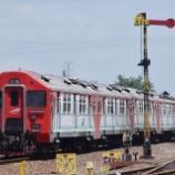 『【元ジャカルタ電車の電気式気動車】赤い時代のKRDE AC(2018年8月)』の画像