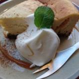 『神戸下山手通のniji cafe (ニジ カフェ) で豆乳チーズケーキ』の画像