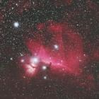 『FSQ-130ED+F3RDによるオリオン座の馬頭星雲と燃える木星雲付近』の画像