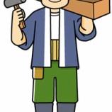 『【職業】大工さんのイラスト』の画像