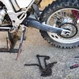 『休日はバイクの整備と・・せみ』の画像