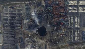 【天津】600名が気化蒸発か? 600名の民工が住むプレハブ小屋が消失