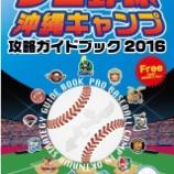『「プロ野球沖縄キャンプ攻略ガイドブック2016」(沖縄県)』の画像