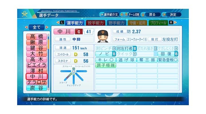 【神!】巨人・中川の今月の登板内容!