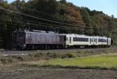 『2013/11/12運転 EF64-37牽引キハ110系郡山配給』の画像