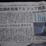 『琵琶湖の放流稚アユが!』の画像