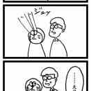 四コマ漫画39「赤トンボ」
