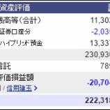 『週末(7月29日)の保有資産。2億2231万8064円』の画像