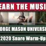 『【WGI】スネア必見! 2020年ジョージメイソン大学『ラーン・ザ・ミュージック・トゥ・ホップ』動画です!』の画像