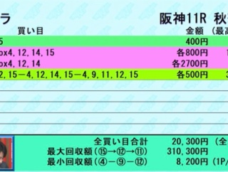 【先週の予想結果[重賞OP4の3][平場5の2]~例の牝馬重賞W的中で12週連続重賞的中~】&【今週の重賞レースのオリジナル出馬表】