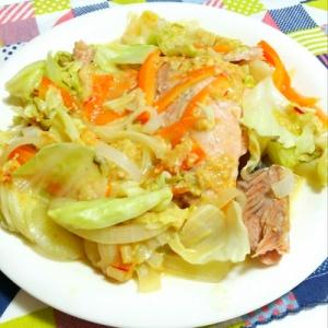 鮭のピリ辛ちゃんちゃん焼き