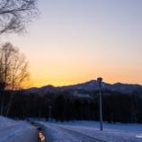 『真駒内公園の夕焼けA sunset glow at Makomanai park.』の画像