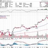 『【AAPL】米中貿易摩擦長期化で、アップル株の強気相場終わるか』の画像
