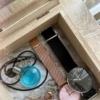【キャンドゥ】ふたを開けると大理石デザインのコレクションケース
