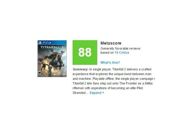 『タイタンフォール2』メタスコア88の高評価