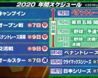 【プロ野球】2020年のスケジュール