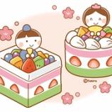 『【クリップアート】ひなまつりケーキのイラスト』の画像