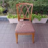 『椅子の木部と座面張替のメンテナンス完了』の画像