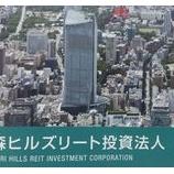『森ヒルズリート投資法人(3234)-日本銀行(大量取得)』の画像