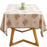 『テーブルクロス紹介NO.2 花柄ピンクのテーブルクロス』の画像