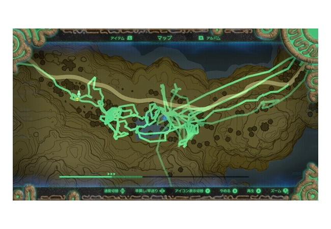 【ゼルダBotW】足跡モードでワイの動きを振り返った結果wwwwwww
