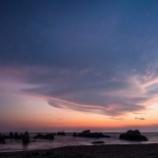 『真夏の天の川 (2) - 南房総市白浜町 根本海水浴場隣の屏風岩』の画像
