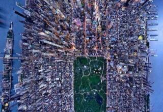 【画像】真上から見たニューヨークがコチラ