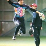 『【MLB】マー君こと田中将大投手、「モノノフ」キャップとTシャツ姿でフォーク投げた』の画像