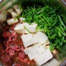 電鍋。マーボー豆腐