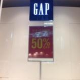 『GAP 50% OFF〜〜〜♪』の画像