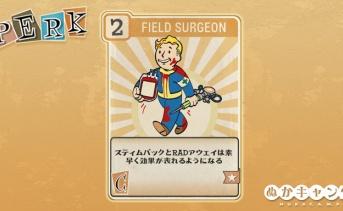 Fallout 76:Field Surgeon(Charisma)