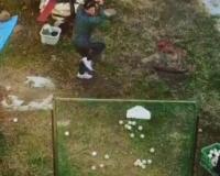 【阪神】伊藤隼太さん(30)、バッティング練習をドローンで撮影する