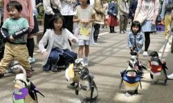 エヴァンゲリオンだ! ペンギンが衣装着て散歩/島根「松江フォーゲルパーク」