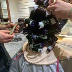 表参道 神宮前 東京 都内で美髪パーマが得意な美容室MINX原宿☆須永健次☆デジタルパーマならば繰り返しかけられます。アイロン仕上げの様なしっかりウェーブをかけました。