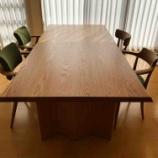 『丸亀市に土井木工・ダイニングテーブルBOULESと飛騨産業・SEOTO-EXチェアを納品』の画像