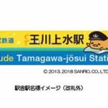 『【西武鉄道×サンリオ】玉川上水駅の一部の「駅名標」が「ぐでたまデザイン」に変更!』の画像