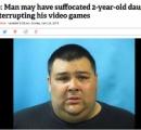 ゲームを邪魔された31歳の父親  2歳娘の顔面を破壊し殺害